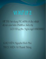 Tài liệu Bài giảng Vi xử lý 2 doc