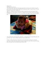 Tài liệu Bé gái 2 tháng tuổi đã biết nói