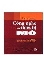 Cẩm Nang Công Nghệ Và Thiết Bị Mỏ - Quyển 1 : Khai Thác Mỏ Lộ Thiên