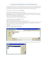 Tài liệu Tạo Đồng Hồ Đếm Thời Gian Cho Powerpoint docx