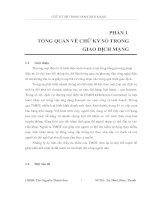CHỮ ký số TRONG GIAO DỊCH MẠNG