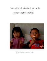 Tài liệu Ngừa viêm hô hấp cấp ở trẻ em do nắng nóng khắc nghiệt pdf