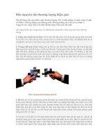 Tài liệu Bốn nguyên tắc thương lượng hiệu quả ppt
