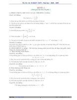 Tài liệu 10 Đề và đáp án thi thử tốt nghiệp môn Toán 2009 docx