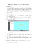 Tài liệu THIẾT KẾ WEB BẰNG MICROSOFT FRONTPAGE pdf