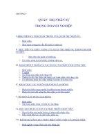 Tài liệu CHƯƠNG 5: QUẢN TRỊ NHÂN SỰ TRONG DOANH NGHIỆP docx