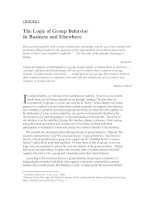 CHAPTER 5 The Logic of Group Behavior In Business and Elsewhere