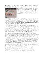 Tài liệu Quản lý Hyper-V bằng SystemCenter Virtual Machine Manager 2008 (Phần 1) docx