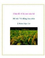 Tài liệu Chủ đề: Ước mơ của bé - Đề tài: Vẽ đồng lúa chín - Nhóm lớp: Lá doc