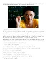 Cách học nhanh, nhớ lâu các môn học