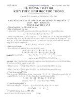 Bài giảng cong thuc Sinh hoc 12