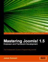 Tài liệu The Professional''''s Guide to Programming Joomla ppt