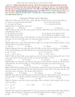 Tài liệu Trắc nghiệm phần cơ học vật lý chất rắn doc