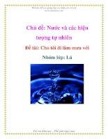 Tài liệu Chủ đề: Nước và các hiện tượng tự nhiên - Đề tài: Cho tôi đi làm mưa với - Nhóm lớp: Lá pptx