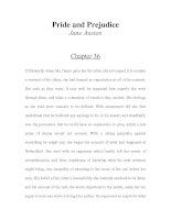 Tài liệu LUYỆN ĐỌC TIẾNG ANH QUA TÁC PHẨM VĂN HỌC-Pride and Prejudice -Jane Austen -Chapter 36 ppt