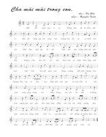 Tài liệu Bài hát cha mãi mãi trong con - Nguyễn Tuấn (lời bài hát có nốt) pptx