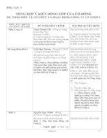 Tài liệu TỔNG HỢP Ý KIẾN ĐÓNG GÓP CỦA CỔ ĐÔNG ppt
