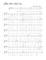 Tài liệu Bài hát cho đời chút ơn - Trịnh Công Sơn (lời bài hát có nốt) pdf