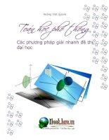 Các phương pháp giải toán đại số và giải tích
