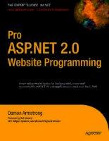 Tài liệu www.dbebooks.com - Free Books & magazines Pro ASP.NET 2.0 Website Programming ■■■ Damon docx