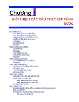 Tài liệu Chương 1: Giới thiệu các cấu trúc lập trình pptx