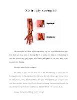 Tài liệu Xử trí gãy xương hở pdf