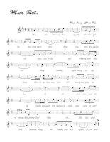 Tài liệu Bài hát mưa rơi - Ưng Lang & Châu Kỳ (lời bài hát có nốt) docx