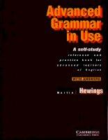 Tài liệu English Advanced Grammar in Use pdf