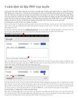 3 cách dịch tài liệu PDF trực tuyến