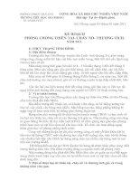 Bài giảng KẾ HOẠCH PHÒNG CHỐNG THIÊN TAI CHÁY NỔ, THƯƠNG TÍCH NĂM 2011