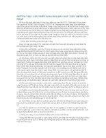 Tài liệu NHỮNG VIỆC CẦN TRIỂN KHAI KHI BẮT ĐẦU TIẾN TRÌNH HỘI NHẬP doc
