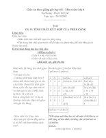 Bài giảng giáo an thao giảng (toán - tiếng việt)