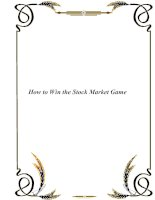 Tài liệu How to Win the Stock Market Game pdf