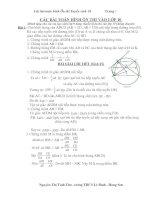 Bài soạn CAC BAI TOAN ON THI VAO LOP 10
