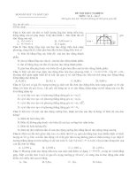Tài liệu Đề thi trắc nghiệm Vật lý - lần thứ 15 pdf