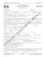 Tài liệu Ôn thi đại học môn hóa mã đề 009 ppt