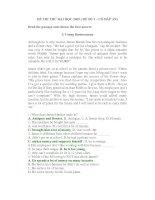 Tài liệu ĐỀ THI THỬ ĐẠI HỌC 2009 ( ĐỀ SỐ 3 – CÓ ĐÁP ÁN) ppt