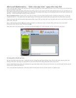 Bài giảng Hướng dẫn sử dụng Microsoft Mathematics