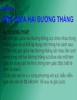 Tài liệu Chủ đề 2: GÓC GIỮA HAI ĐƯỜNG THẲNG pptx