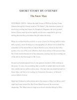 Tài liệu LUYỆN ĐỌC TIẾNG ANH QUA TÁC PHẨM VĂN HỌC-SHORT STORY BY O'HENRY- The Snow Man ppt