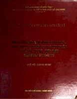 Nâng cao hiệu quả quản lý chi tiêu công phục vụ chiến lược phát triển kinh tế xã hội việt nam giai đoạn 2001   2010