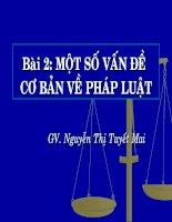 Một số vấn đề cơ bản về pháp luật