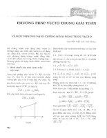 Phương pháp vecto trong giải toán (THTT)