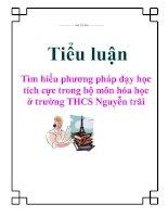 Tài liệu Tiểu luận: Tìm hiểu phương pháp dạy học tích cực trong bộ môn hóa học ở trường THCS Nguyễn trãi ppt