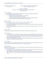 Tài liệu Đề thi học sinh giỏi hóa 11 tỉnh Thừa Thiên Huế 1995-1999 doc