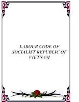 Tài liệu LABOUR CODE OF SOCIALIST REPUBLIC OF VIETNAM pdf