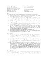 Đề thi Nguyên lí kế toán Học viện ngân hàng 5/10/2009