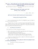 Tài liệu PHỤ LỤC 1 - MẪU ĐƠN XIN CẤP GIẤY PHÉP THÀNH LẬP VÀ HOẠT ĐỘNG CỦA DOANH NGHIỆP BẢO HIỂM, DOANH NGHIỆP MÔI GIỚI BẢO HIỂM pdf