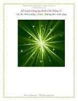 Tài liệu Môi trưởng - Nước - Không khí - Ánh sáng (Khối Chồi) docx
