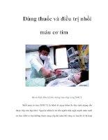 Tài liệu Dùng thuốc và điều trị nhồi máu cơ tim pdf